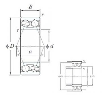 17 mm x 47 mm x 22.2 mm  KOYO 3303 angular contact ball bearings