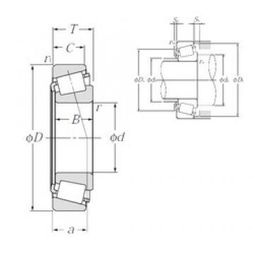 105 mm x 225 mm x 49 mm  NTN 30321 tapered roller bearings