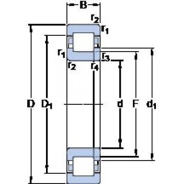 130 mm x 230 mm x 40 mm  SKF NUP 226 ECP thrust ball bearings
