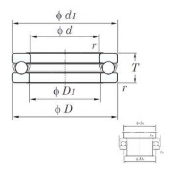 KOYO 51416 thrust ball bearings