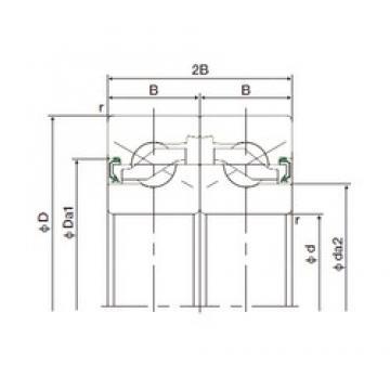 15 mm x 47 mm x 15 mm  NACHI 15TAB04DF-2NK thrust ball bearings