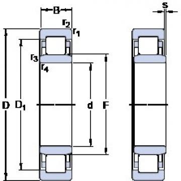 120 mm x 215 mm x 40 mm  SKF NU 224 ECJ thrust ball bearings