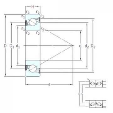 20 mm x 47 mm x 14 mm  SKF BSA 204 CG-2RZ thrust ball bearings