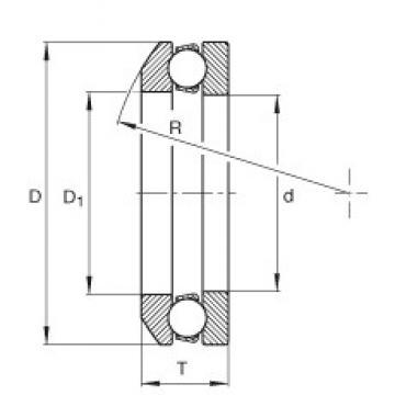INA 4118 thrust ball bearings