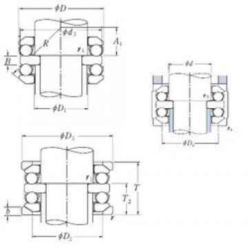 70 mm x 150 mm x 24 mm  NSK 54414U thrust ball bearings