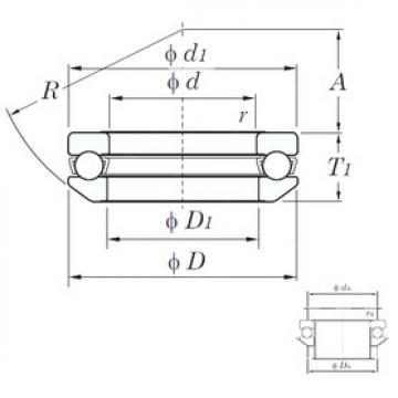 KOYO 53215 thrust ball bearings