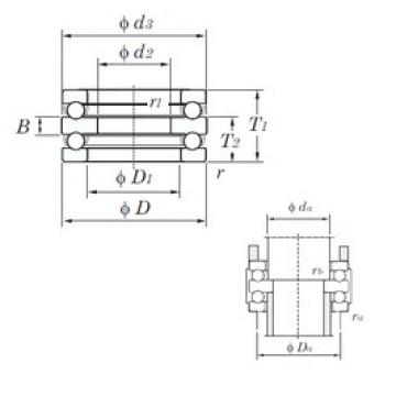 KOYO 52214 thrust ball bearings