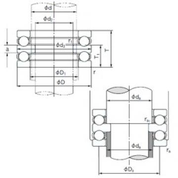 NACHI 52338 thrust ball bearings