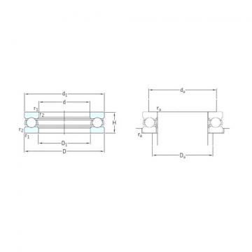 SKF 51148M thrust ball bearings