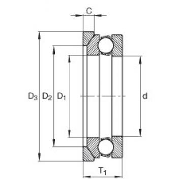 INA 4110-AW thrust ball bearings