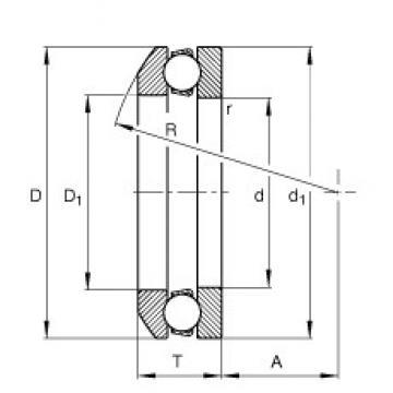 FAG 53216 thrust ball bearings