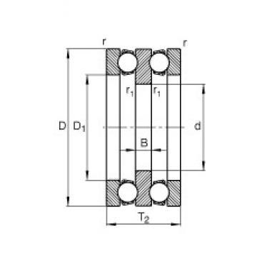 130 mm x 250 mm x 31 mm  FAG 52330-MP thrust ball bearings