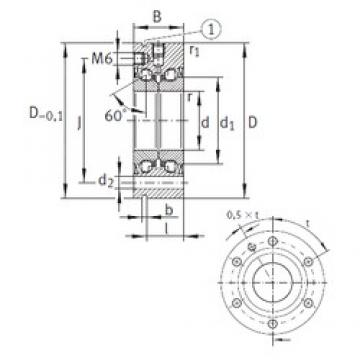 17 mm x 62 mm x 25 mm  INA ZKLF1762-2Z thrust ball bearings