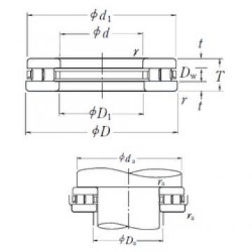 NSK 220TMP12 thrust roller bearings