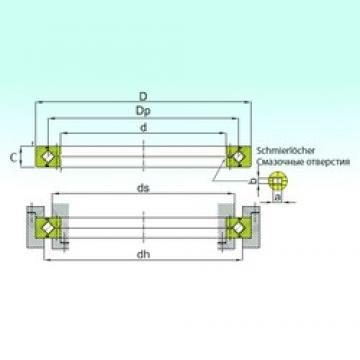 450 mm x 500 mm x 25 mm  ISB RB 45025 thrust roller bearings