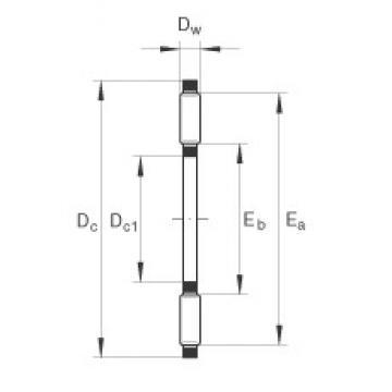 INA TC2233 thrust roller bearings