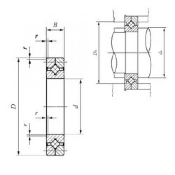 200 mm x 260 mm x 25 mm  IKO CRB 20025 UU thrust roller bearings