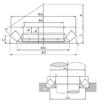 460 mm x 620 mm x 30 mm  NACHI 29292E thrust roller bearings