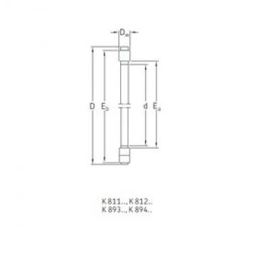 SKF K89326M thrust roller bearings