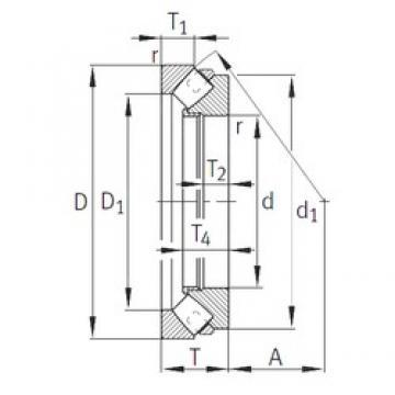 INA 294/950-E1-MB thrust roller bearings