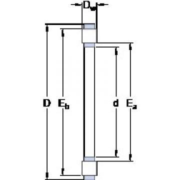 SKF K 81117 TN thrust roller bearings