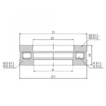 ISO 81207 thrust roller bearings