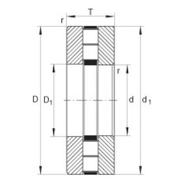 INA 89444-M thrust roller bearings