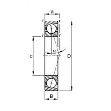 35 mm x 62 mm x 14 mm  FAG B7007-C-T-P4S angular contact ball bearings