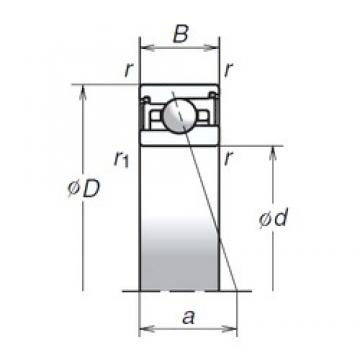 45 mm x 68 mm x 14 mm  NSK 45BER29SV1V angular contact ball bearings