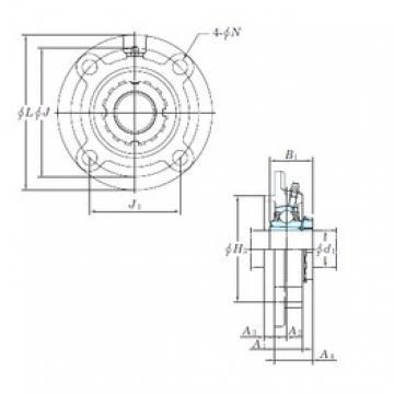 KOYO UKFC218 bearing units