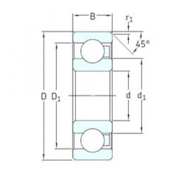 55 mm x 100 mm x 21 mm  SKF 6211/HR11TN deep groove ball bearings