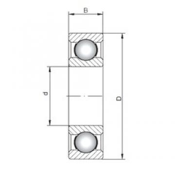 160 mm x 340 mm x 68 mm  ISO 6332 deep groove ball bearings