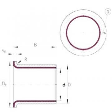 20 mm x 23 mm x 21,5 mm  INA EGF20215-E40 plain bearings