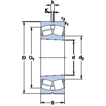140 mm x 225 mm x 85 mm  SKF 24128 CCK30/W33 spherical roller bearings