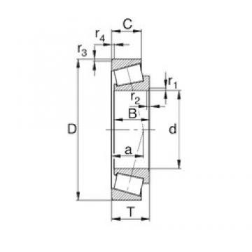 40 mm x 80 mm x 23 mm  KBC 32208J tapered roller bearings