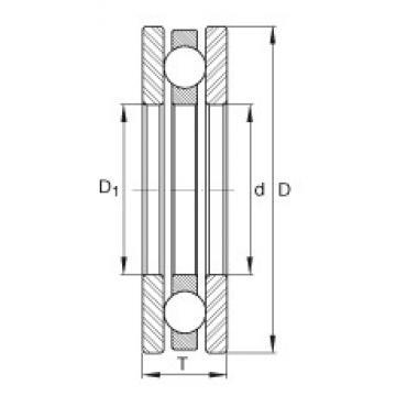 INA 4443 thrust ball bearings
