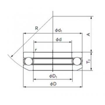 NACHI 53240 thrust ball bearings