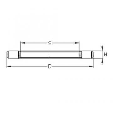 NKE K 81252-MB thrust roller bearings