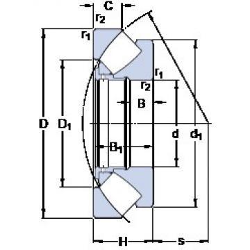 400 mm x 620 mm x 43 mm  SKF 29380 thrust roller bearings