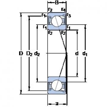 30 mm x 47 mm x 9 mm  SKF S71906 ACD/P4A angular contact ball bearings