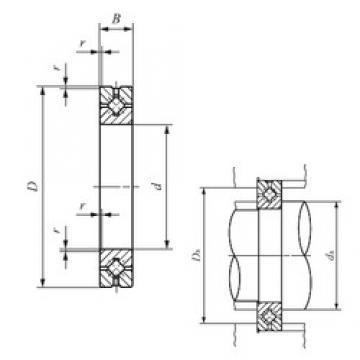 110 mm x 160 mm x 20 mm  IKO CRBH 11020 A thrust roller bearings