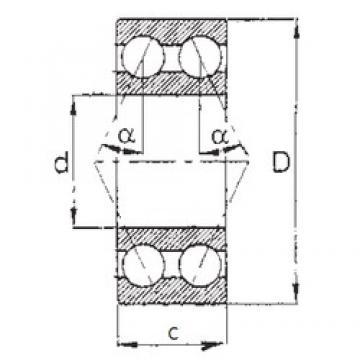 65 mm x 140 mm x 58,7 mm  FBJ 5313 angular contact ball bearings