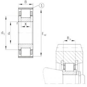FAG RN211-E-MPBX cylindrical roller bearings