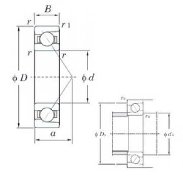 30 mm x 47 mm x 9 mm  KOYO 7906C angular contact ball bearings