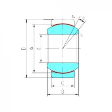 20 mm x 35 mm x 16 mm  LS GE20ET/X plain bearings