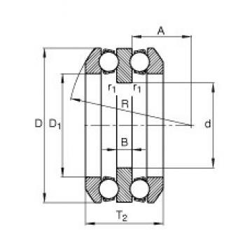60 mm x 110 mm x 10 mm  FAG 54215 thrust ball bearings