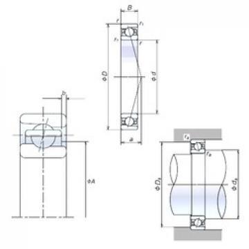 65 mm x 100 mm x 18 mm  NSK 65BER10X angular contact ball bearings