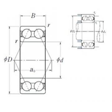 60 mm x 130 mm x 54 mm  NSK 5312 angular contact ball bearings