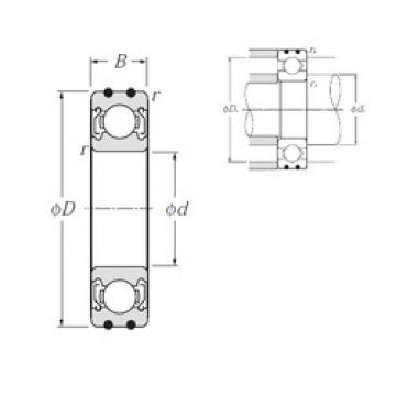 12 mm x 32 mm x 10 mm  NTN AC-6201ZZ deep groove ball bearings