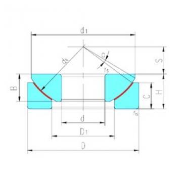 360 mm x 560 mm x 115 mm  LS GX360T plain bearings
